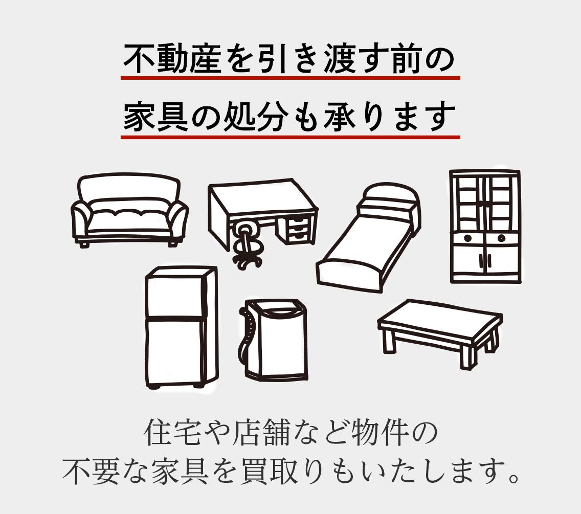 |不用品の整理、家具の処分
